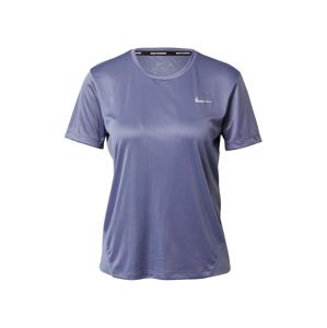 NIKE Funkčné tričko 'Miler'  modrofialová