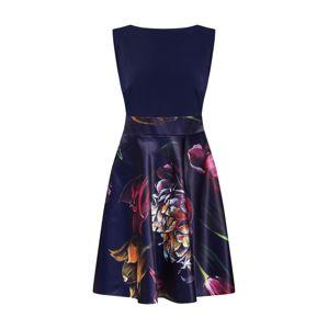 SWING Kokteilové šaty  čierna / modrá / zmiešané farby