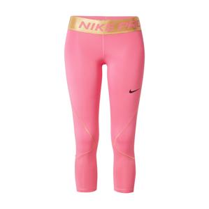 NIKE Športové nohavice 'Pro Warm'  zlatá / ružová / čierna