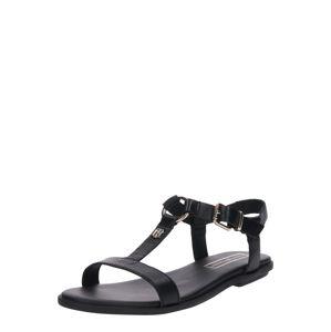 TOMMY HILFIGER Remienkové sandále  čierna