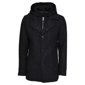 INDICODE JEANS Prechodný kabát 'Adair'  sivá / čierna