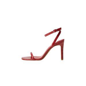 MANGO Remienkové sandále 'Lali'  červená