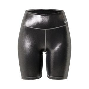 NIKE Športové nohavice  čierna / striebornosivá