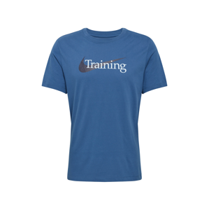 NIKE Funkčné tričko  čierna / námornícka modrá / biela