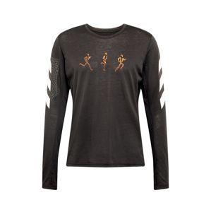 ADIDAS PERFORMANCE Funkčné tričko  čierna / biela / svetločervená / oranžová