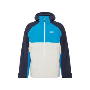 JACK WOLFSKIN Outdoorová bunda 'MOUNT ISA'  námornícka modrá / vodová / biela