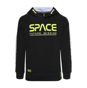 BLUE EFFECT Mikina 'Space'  čierna / žltá