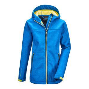 KILLTEC Outdoorová bunda 'Lynge'  kráľovská modrá / neónovo žltá