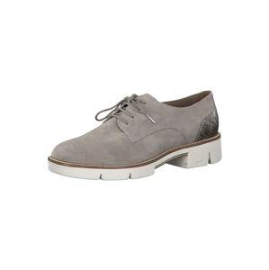 TAMARIS Šnurovacie topánky  sivobéžová / sivá melírovaná