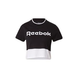 REEBOK Funkčné tričko  zmiešané farby / čierna / biela