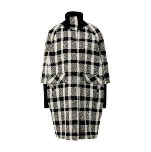 COMMA Prechodný kabát  sivá / biela / čierna