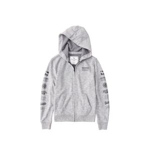 Abercrombie & Fitch Tepláková bunda  sivá melírovaná / tmavosivá