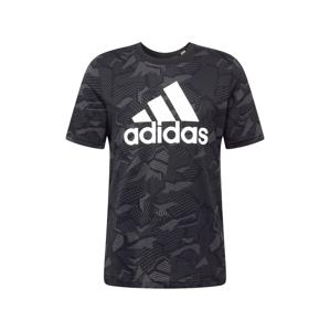 ADIDAS PERFORMANCE Funkčné tričko  sivá / čierna / biela