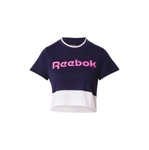 REEBOK Funkčné tričko  zmiešané farby / biela / námornícka modrá