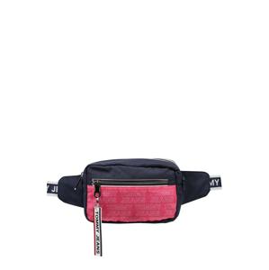 Tommy Jeans Ľadvinka  tmavomodrá / s ružovými fľakmi / biela