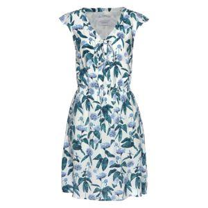 ZABAIONE Letné šaty 'Caprice'  biela / pastelovo modrá