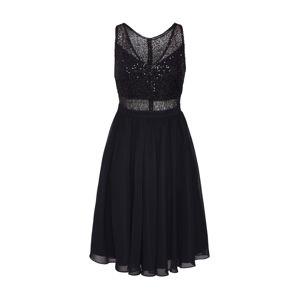 SWING Kokteilové šaty  čierna / strieborná