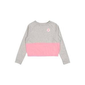CONVERSE Tričko  sivá / ružová