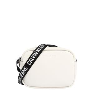 Calvin Klein Jeans Taška cez rameno  biela / čierna
