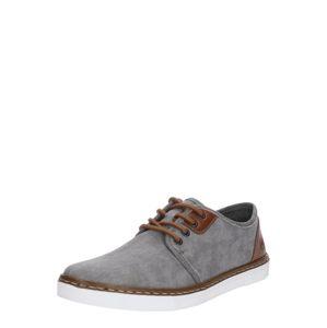 RIEKER Športové šnurovacie topánky  hnedá / sivá