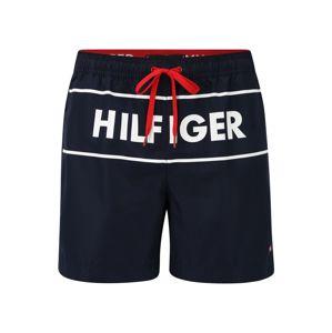 TOMMY HILFIGER Plavecké šortky  námornícka modrá / biela / červená