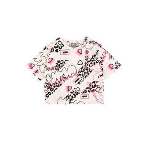PUMA Tričko  ružová / biela / čierna