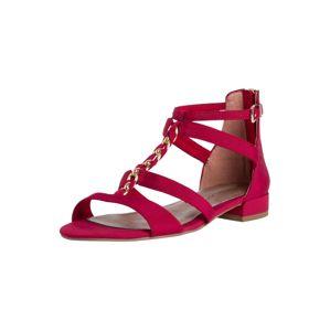 TAMARIS Sandále  zlatá / červená