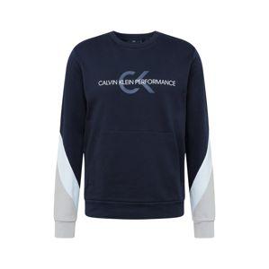 Calvin Klein Performance Športová mikina  biela / čierna / tmelová / dymovo modrá