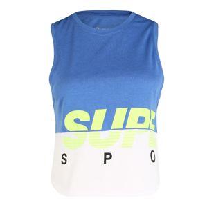 Superdry Športový top  limetová / sivá melírovaná / modrá