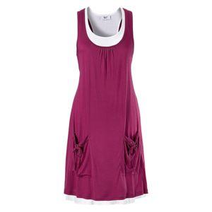 BEACH TIME Letné šaty  cyklaménová