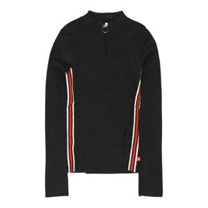 LEMON BERET Tričko  antracitová / červená / biela