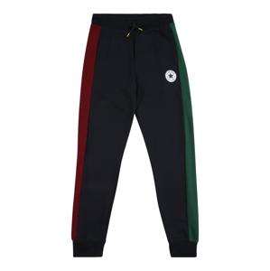 CONVERSE Nohavice  tmavomodrá / zelená / červená