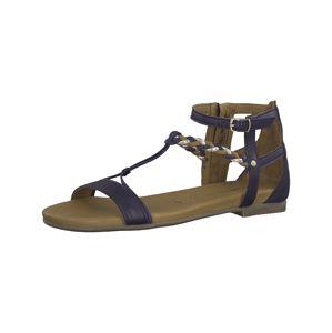 TAMARIS Remienkové sandále  hnedá / zlatá / modrofialová