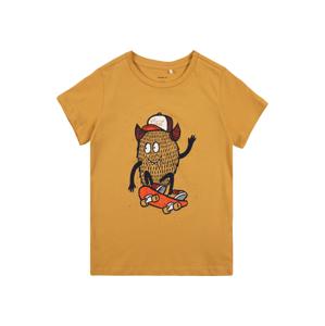 NAME IT Tričko 'DAWI'  horčicová / čierna / červená / oranžová