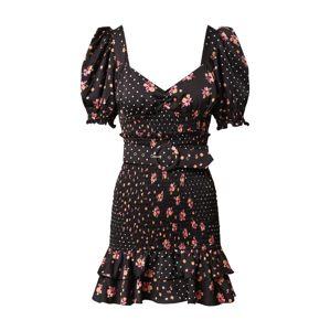 For Love & Lemons Šaty 'Camellia'  čierna / zmiešané farby