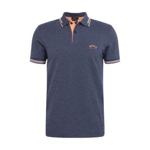 BOSS ATHLEISURE Tričko 'Paul Curved'  námornícka modrá
