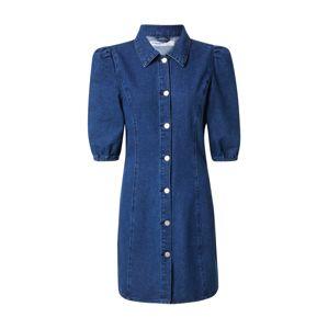 GLAMOROUS Košeľové šaty  modrá denim