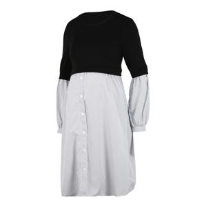 MAMALICIOUS Šaty  čierna / čadičová / biela