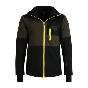 BRUNOTTI Outdoorová bunda 'Strokers'  čierna / olivová / žltá
