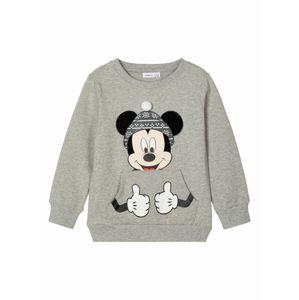 NAME IT Mikina 'Mickey Mouse'  sivá / čierna