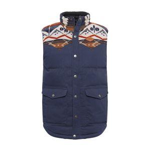 Picture Organic Clothing Športová vesta 'Russel'  modrosivá / svetlohnedá / biela / pastelovo červená