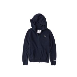 Abercrombie & Fitch Tepláková bunda  námornícka modrá / biela