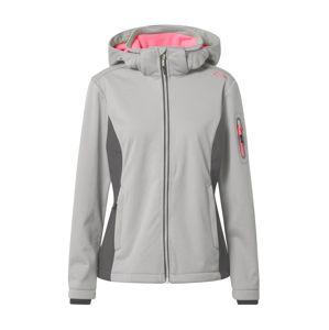 CMP Outdoorová bunda  ružová / sivá / tmavošedá
