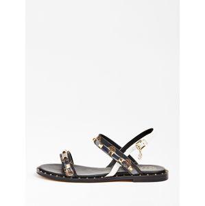 GUESS Remienkové sandále 'Ofelia'  čierna / biela / bronzová