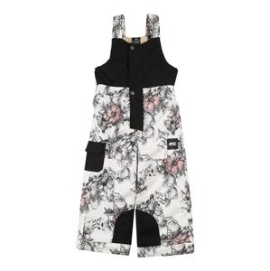 Picture Organic Clothing Outdoorové nohavice 'SNOWY'  biela / čierna / ružová