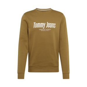 Tommy Jeans Mikina 'TJM ESSENTIAL GRAPHIC CREW'  olivová