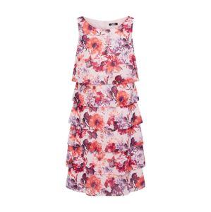 Vera Mont Kokteilové šaty  fialová / rosé / oranžovo červená