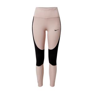 NIKE Športové nohavice  čierna / telová