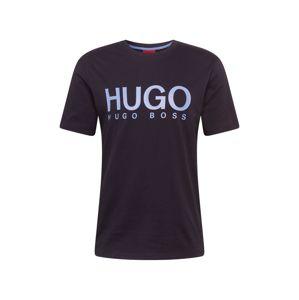 HUGO Tričko 'Dolive 204'  čierna / modrá