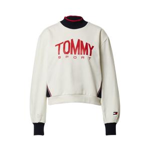 Tommy Sport Športová mikina  červená / biela